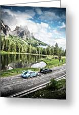 Laferrari And Gt3rs In The Dolomites Greeting Card