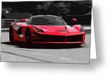 La Ferrari Greeting Card