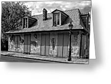 Lafittes Blacksmith Shop Bar In Black And White Greeting Card
