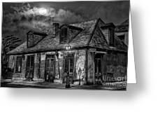 Lafittes Blacksmith Shop Bw Greeting Card