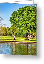 Lafreniere Park 2 - Paint Greeting Card