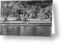 Lafreniere Park 3 - Bw Greeting Card