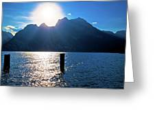 Lago Di Garda At Sunset View Greeting Card