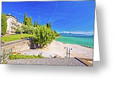 Lago Di Garda Beach In Sirmione View Greeting Card