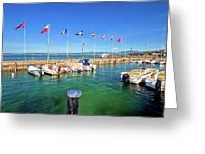 Lago Di Garda Harbor In Sirmione View Greeting Card