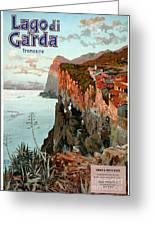 Lago Di Garda Lake Garda Vintage Poster Greeting Card