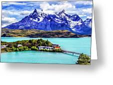 Lago Pehoe Greeting Card