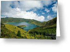 Lagoa Do Fogo Greeting Card