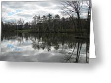 Lagoon Reflection 1 Greeting Card