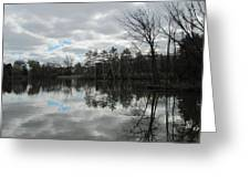 Lagoon Reflections 4 Greeting Card