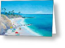 Laguna Beach Umbrellas Greeting Card
