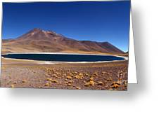 Laguna Miniques And Miniques Volcano Chile Greeting Card