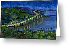 Laguna Shores At Night Greeting Card