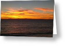 Laguna Sunset View Greeting Card