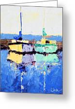 Lahaina Boats Greeting Card