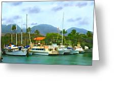 Lahina Harbor Greeting Card