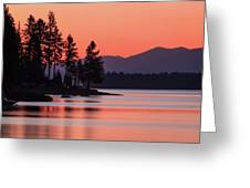 Lake Almanor Twilight Greeting Card