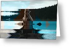 Lake And Beauty Ftg0002 Greeting Card