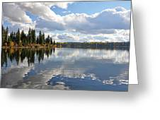 Lake And Clouds Greeting Card