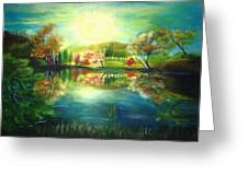 Lake At Dawn Greeting Card