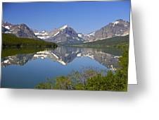 Lake At Many Glacier Greeting Card