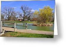 Lake At Schiller Park Greeting Card