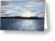 Lake At Sunset Greeting Card