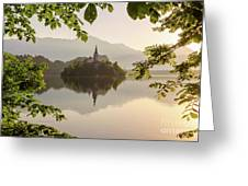 Lake Bled In The Morning Greeting Card