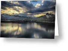 Lake Bled Sunset Greeting Card