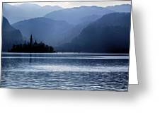 Lake Bled Twilight Greeting Card