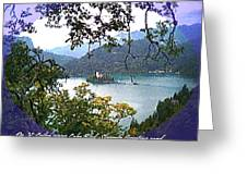 Lake Bled.slovenia.greeting Card Greeting Card