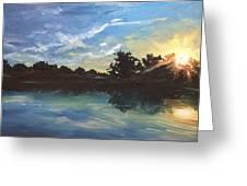 Lake Bridgeland Greeting Card