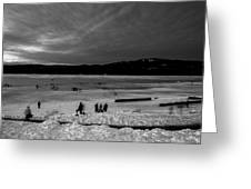 Lake Bw Greeting Card