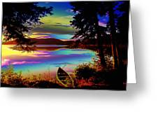 Lake Canoe Greeting Card
