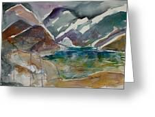 Lake Collage Greeting Card