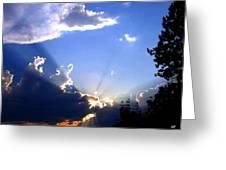 Lake Country Sunburst Greeting Card