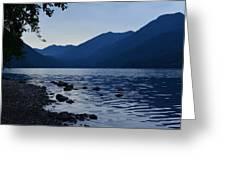 Lake Crescent Greeting Card