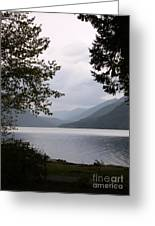 Lake Crescent Through The Trees Greeting Card