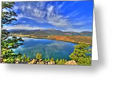 Lake Dillon Blue Greeting Card