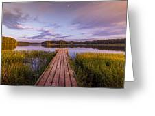 Lake Dock Greeting Card