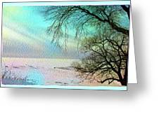 Lake Erie In Winter Greeting Card
