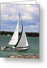Lake Erie Sailing 8092 Greeting Card