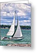 Lake Erie Sailing 8092h Greeting Card