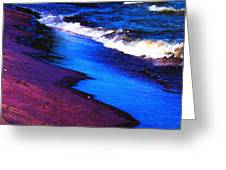 Lake Erie Shore Abstract Greeting Card