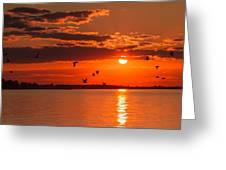 Lake Erie Sunset 7999 Greeting Card