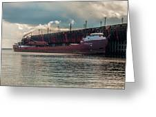 Lake Freighter - Honorable James L Oberstar Greeting Card