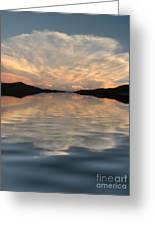 Lake Front Sunset Greeting Card