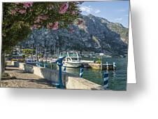 Lake Garda Harbour Of Limone Sul Garda Greeting Card