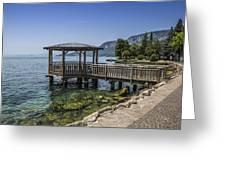 Lake Garda Riverside At Garda Greeting Card