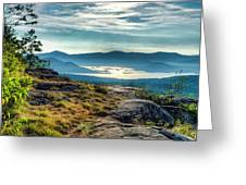 Lake George From Cat Mountain 1 Greeting Card